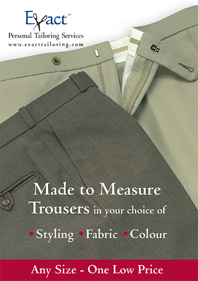 Made to Measure Coduroy Trousers in your choice of Styling Fabric Colour