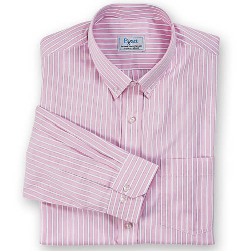 Buy tailor made shirts online - Cliveden - Blue Lined Pink Stripe