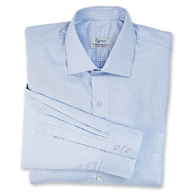 Buy tailor made shirts online - Egyptian Cotton - Blue Broad Check