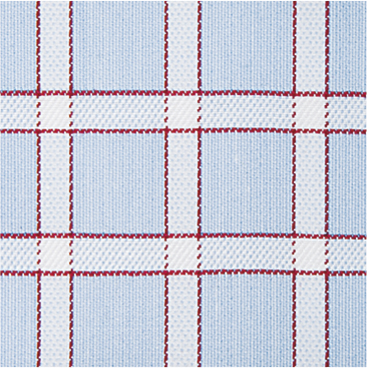White Lined Check on Blue