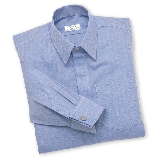 Buy tailor made shirts online - Egyptian Cotton - Blue Herringbone