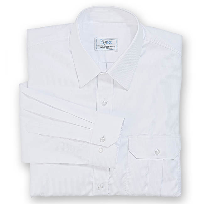 Buy tailor made shirts online - Egyptian Cotton - White Stripe
