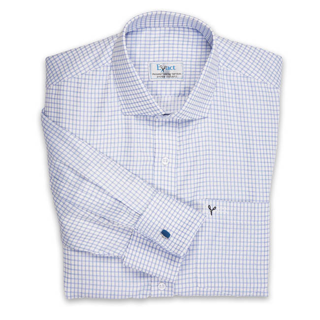 Buy tailor made shirts online - Wymark Collection - Blue White Check