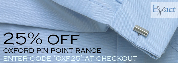 25% Off Oxford Pin Point
