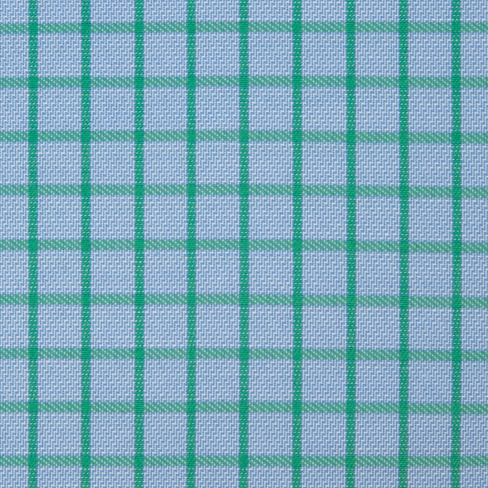 Buy tailor made shirts online - Arturo Collection - Green Check on Blue