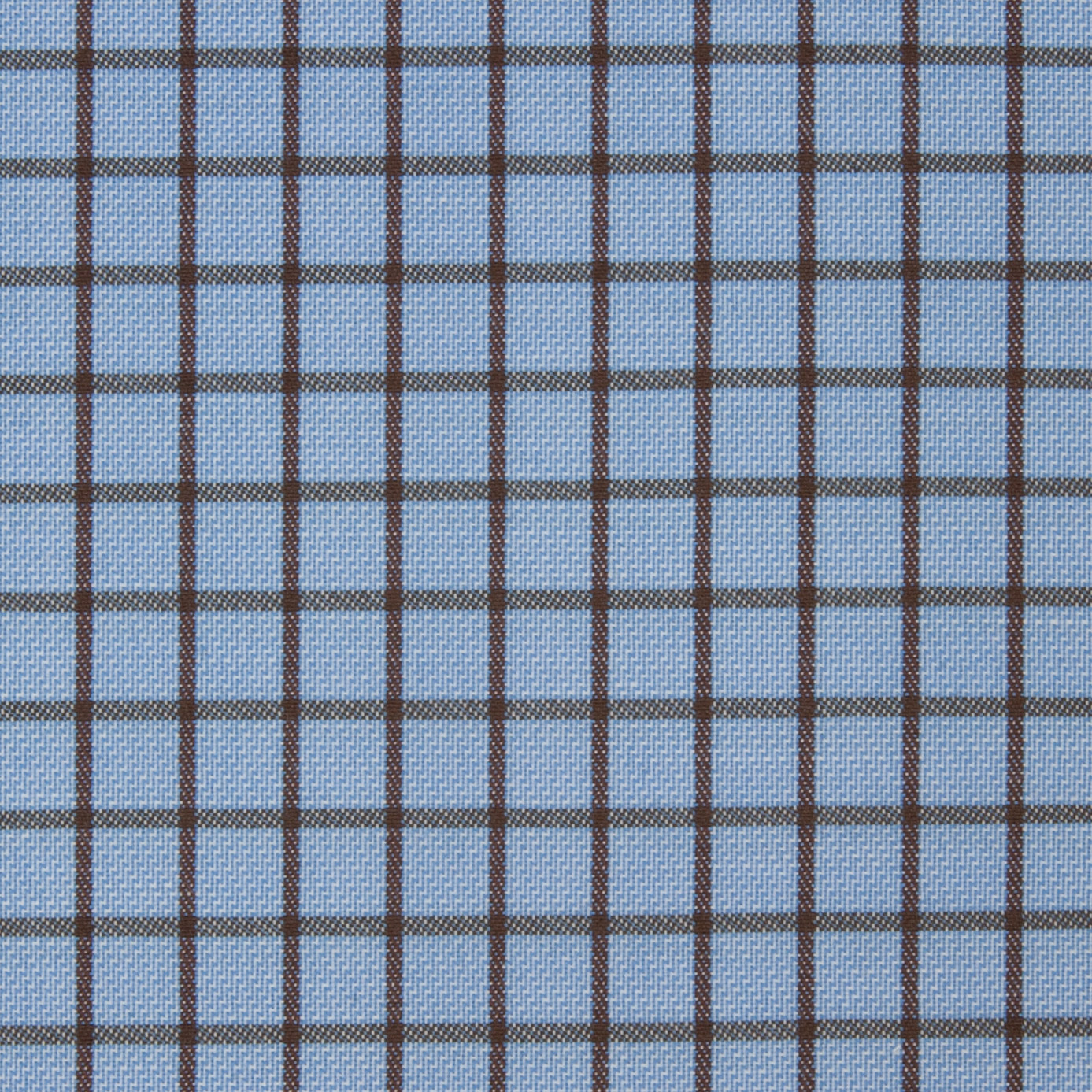 Buy tailor made shirts online - Arturo Collection - Brown Check on Blue