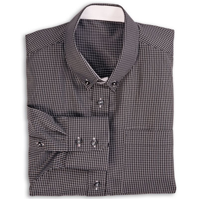 Buy tailor made shirts online - Arturo Collection - Fine White Check on Black