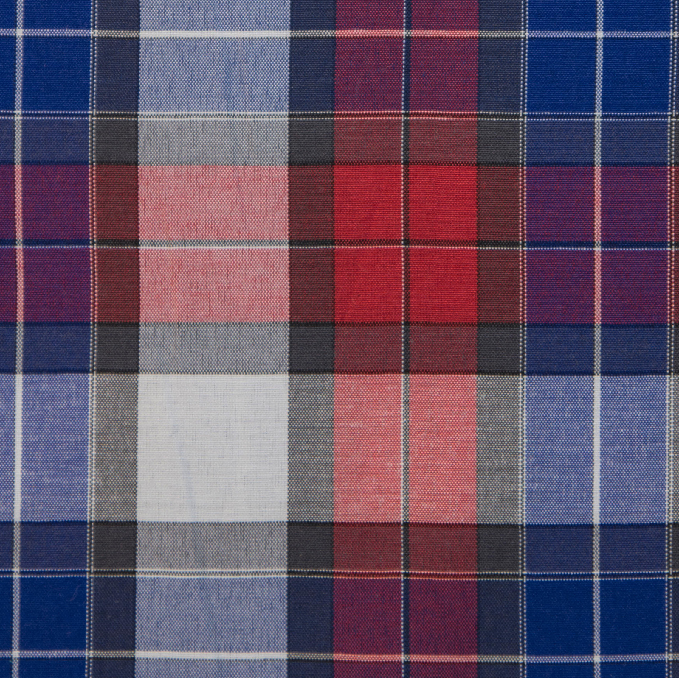 Buy tailor made shirts online - Texas Country Checks - Red, Blue, Black Check