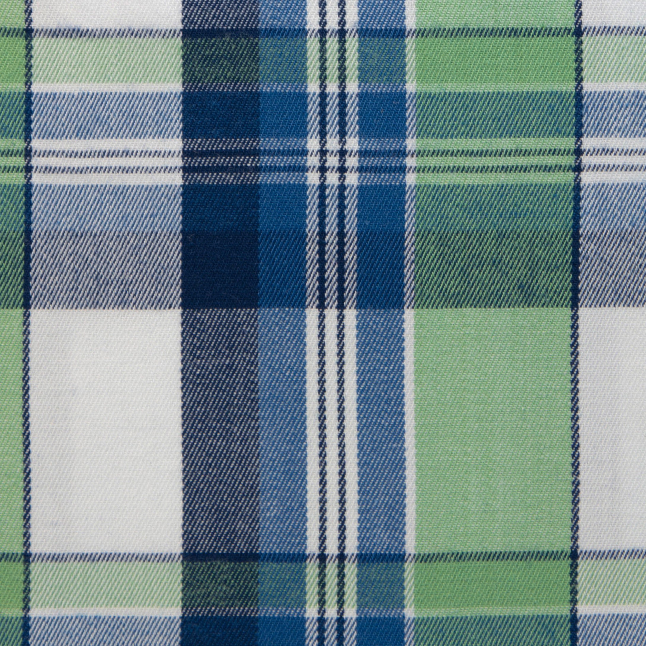 Buy tailor made shirts online - Texas Country Checks - Green and Blue Check