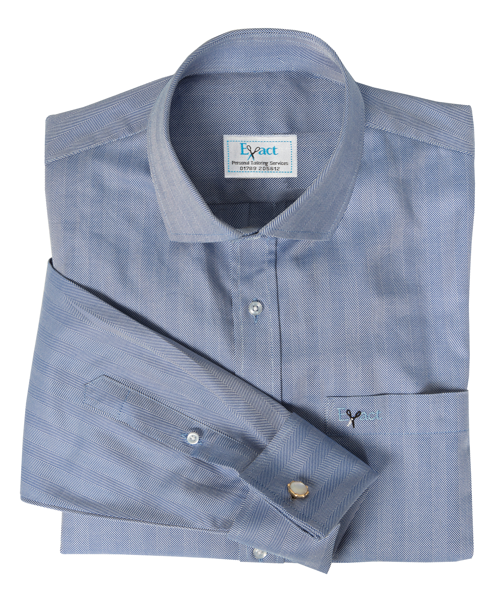 Buy tailor made shirts online - Presidents Range - Dark Blue Herringbone