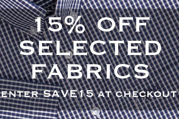 15% Off Selected Fabrics