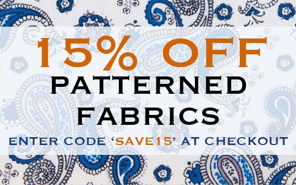15% Off Selected Fabrics