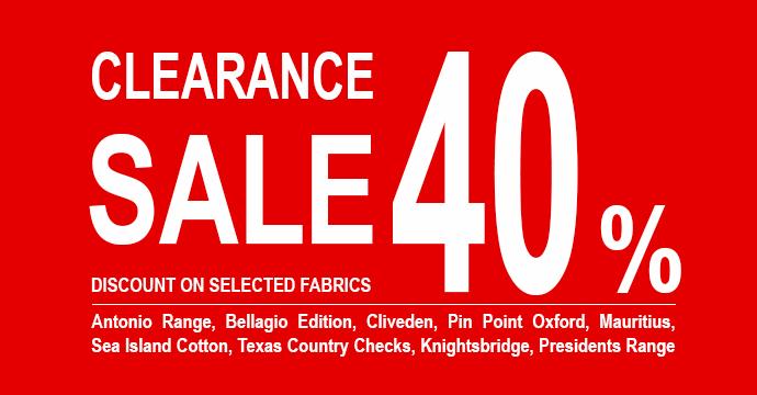 Clearance sale 40%