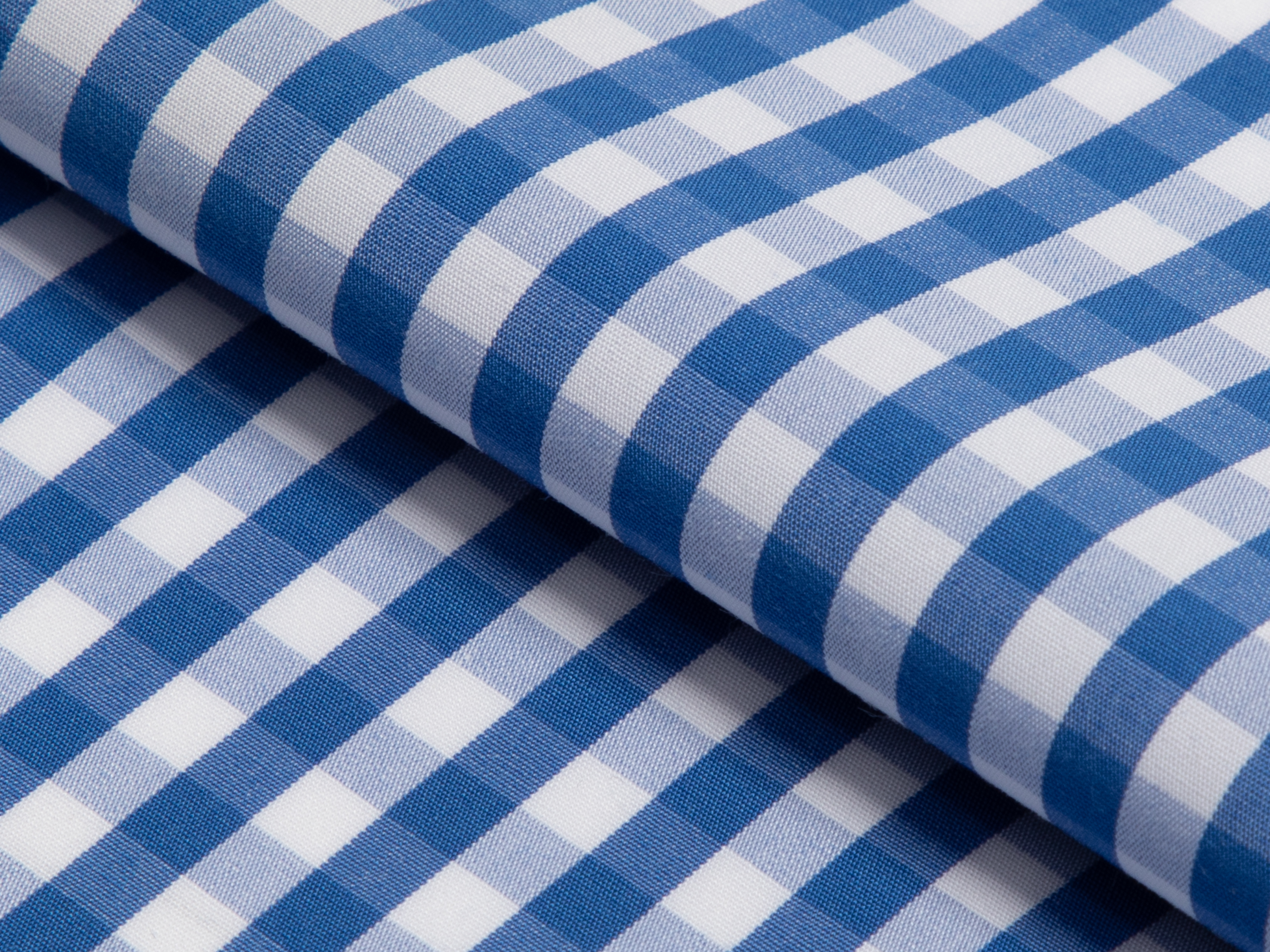 Buy tailor made shirts online - GINGHAM LUXURY (NEW) - Gingham Mid Blue