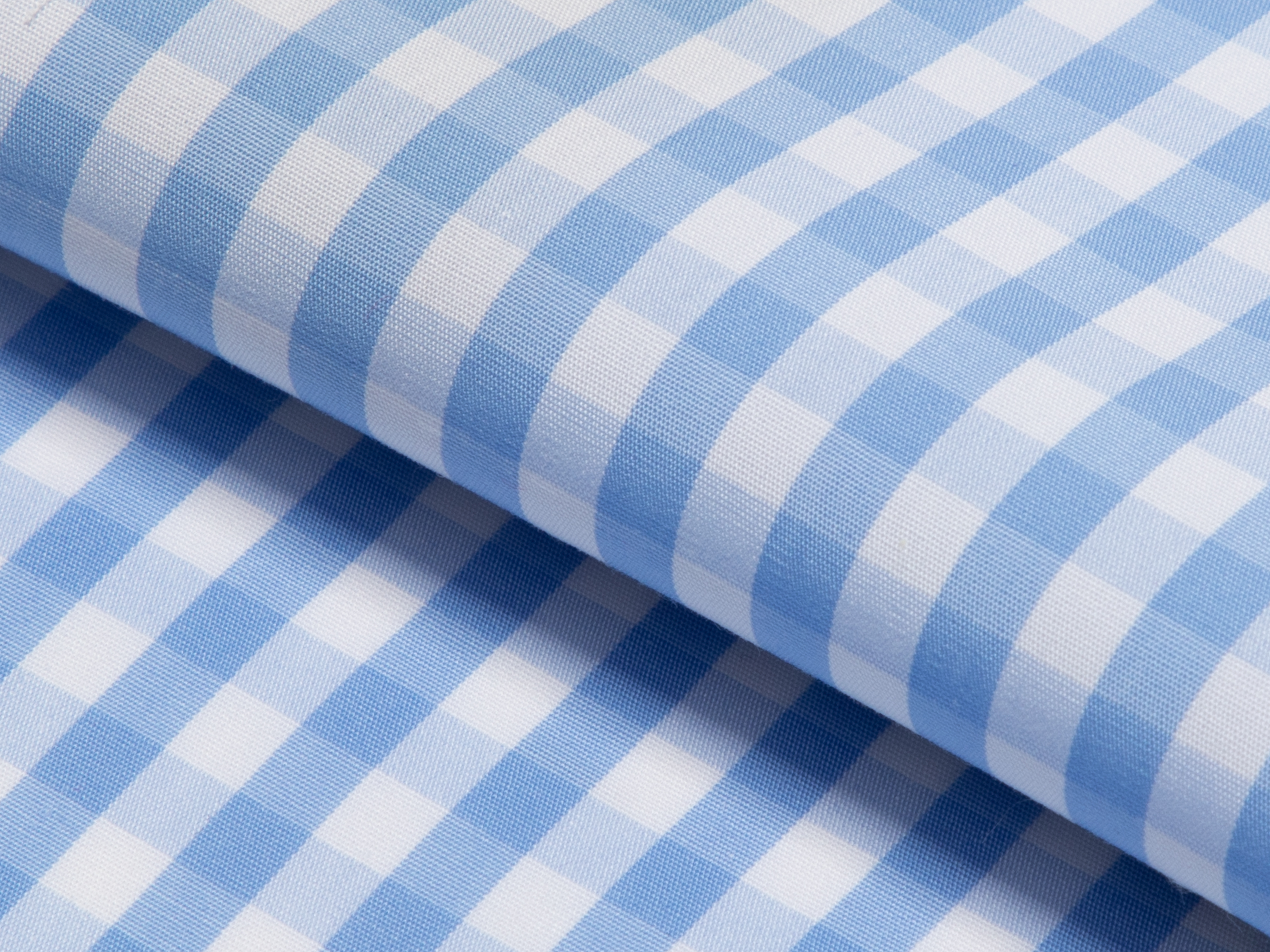 Buy tailor made shirts online - GINGHAM LUXURY  - Gingham Light Blue